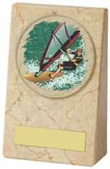 "Cream Marble Wedge Award - TW18-096-447ZCP - 9cm (3 3/4"")"