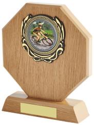 "Light Wood Octagon Multi Sport Award - TW18-097-617ZAP - 18cm (7"")"