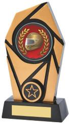 "Gold & Black Resin Award - TW18-097-833ZCP - 15cm (6"")"