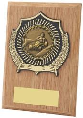 "Light Wood Effect Plaque Award - TW18-099-113CP - 12.5cm (5"")"