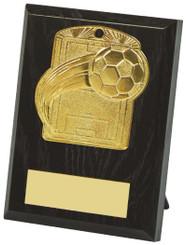 10cm Football Pitch Medal Plaque - TW18-034-533AP