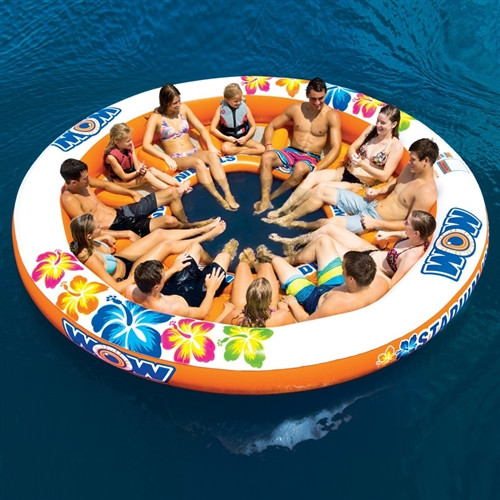 WOW STADIUM ISLANDER 12 PERSON FLOATING ISLAND (15)