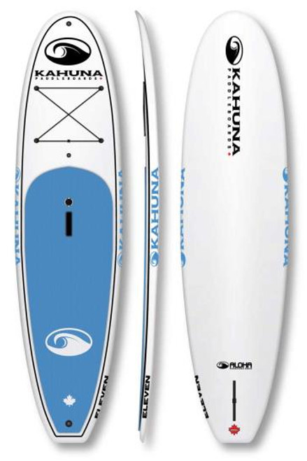 KAHUNA ALOHA ELEVEN SUP PKG W/PADDLE, BAG AND LEASH (2017)