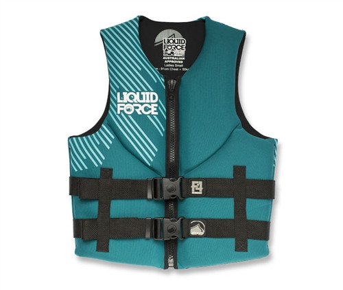 LIQUID FORCE LADIES CLASSIC HINGE NEOPRENE VEST CCGA AQUA (16)