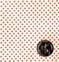 "Blue Hill Fabrics ""Vintage Shirtings"" Red & Cream"