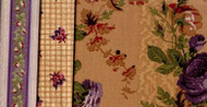 """Yorktown Collection Circa 1850"" Brown/Purple Fat Quarter Bundle"