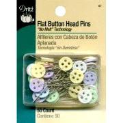 Dritz Flat Button Head Pins