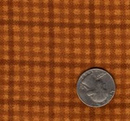 """Maywood Studios """"Woolies Flannel"""" Small Check Gold/Brown"""
