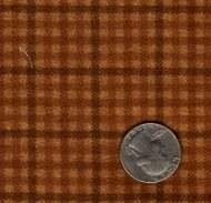 """Maywood Studios """"Woolies Flannel"""" Small Check Brown"""
