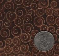 "Blank Textiles ""Spirals"" Cocoa Yardage"