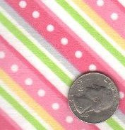 """Maywood Studios """"Little One Too"""" Flannel Pink Diagonal"""