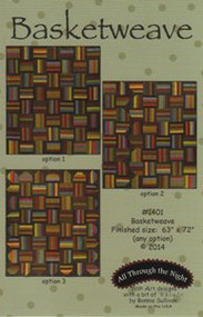 """All Through the Night """"Basketweave"""" Quilt Pattern"""