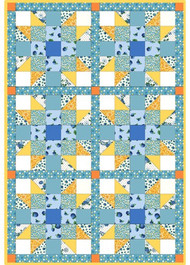 "Maywood Studios ""Berries & Blossoms"" Precut 6 Block Star Quilt Kit"