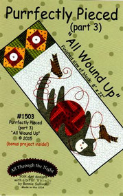 """""""Purrfectly Pieced - Part 3"""" Applique Cat Pattern"""