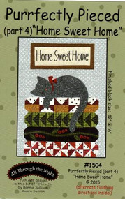 """""""Purrfectly Pieced - Part 4"""" Applique Cat Pattern"""