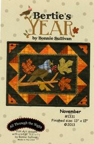 """Bertie's Year-November"" Applique Pattern"