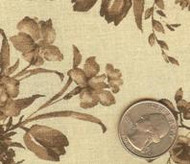 "108"" Wide Galaxy Floral Tan Quilt Backing Scrap"