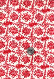 "Blue Hill Fabrics ""The Lancaster Collection"" Red Toile"