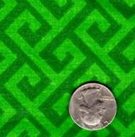 """Springs Industries """"Geometric"""" Green Greek Key"""