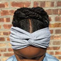 Solid Grey Turban Headband