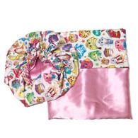 Shopkins Satin Bonnet and Pillowcase Set