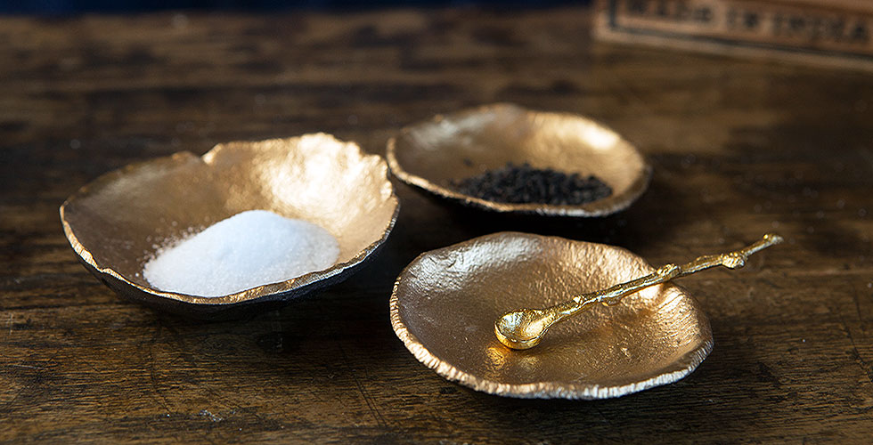 Spice Gold Leaf Trays