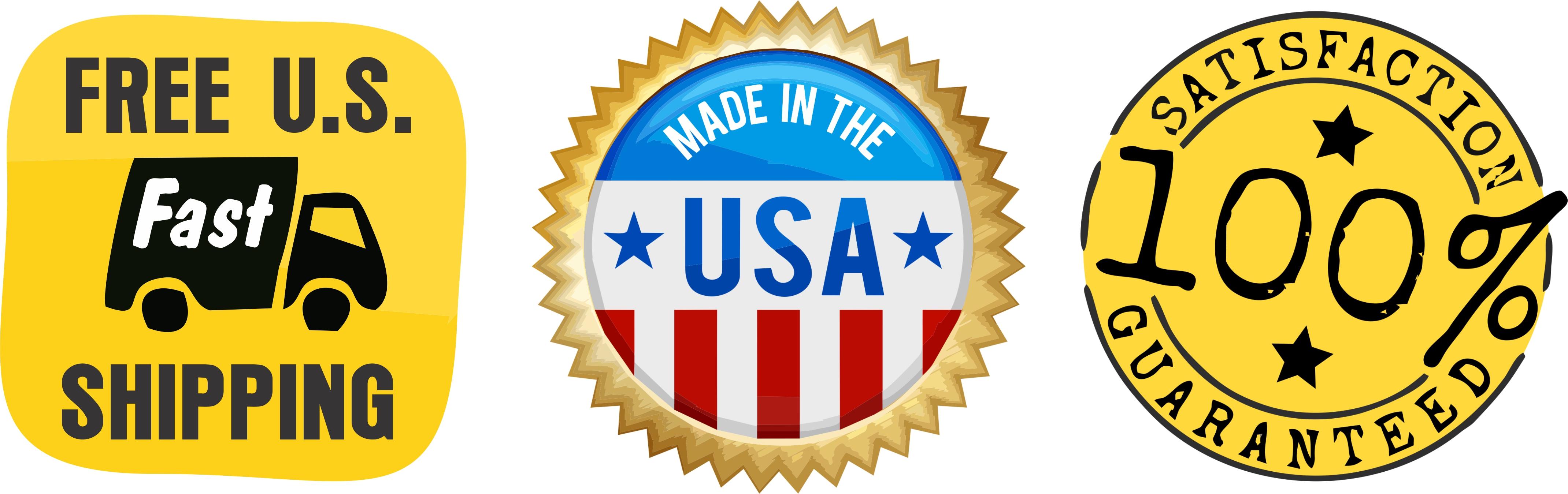 Free US Shipping! Made in USA! 100% Guarantee!