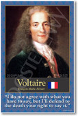 Voltaire - French Philosopher - Social Studies Classroom Poster