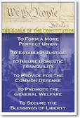 American Government - Goals of the US Constitution Poster