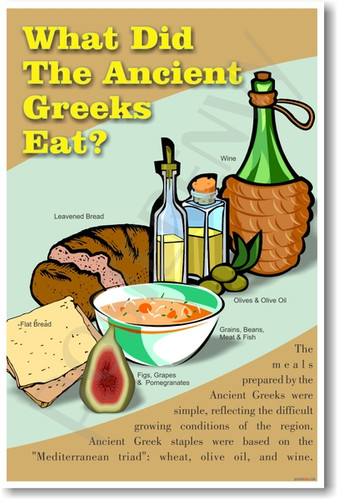 What did the ancient greeks eat social studies poster image 1 forumfinder Image collections