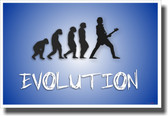 Bass Evolution - Blue - NEW Music Poster
