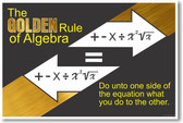 Algebras Golden Rule 2 - NEW Classroom Math Poster