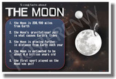 5 Cool Facts About The Moon - NEW Astronomy Science Poster