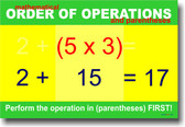 Mathematical Order of Operations (Parentheses) - Poster