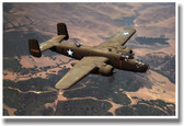 B25 In Flight - NEW Military US Air Force Army Navy POSTER