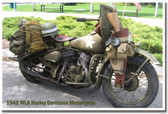 1942 WLA Harley Davidson Motorcycle