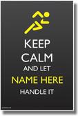 Custom Keep Calm Poster - Runner Athlete