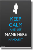 PosterEnvy Keep Calm - Office Worker with Briefcase - Custom Poster