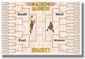 March Madness Bracket - NEW Sports Poster