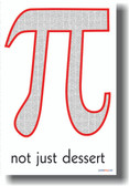 Pi - Not Just Dessert - Funny Math Poster