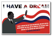 Martin Luther King Jr. I Have a Dream Speech Quote Civil Rights Leader PosterEnvy Classroom Motivational Poster