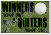 Winners Never Quit - NEW Classroom Motivational Poster