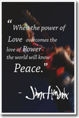 The Power of Love - Jimi Hendrix - NEW Motivational Poster
