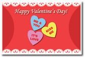Happy Valentine's Day heart candies Holiday Classroom Poster