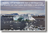 Ice Melting Climate Change Global Warming Start Today Maria Robinson Quote Poster