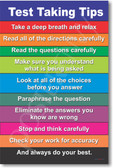 Test Taking Tips - Classroom Guide Poster Print Gift