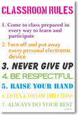 Classroom Rules #12 - NEW Classroom Motivational PosterEnvy Poster