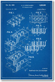 Lego Brick Patent - NEW Famous Invention Blueprint Poster (fa120)