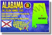 Alabama Geography -  U.S. State Travel Social Studies PosterEnvy Poster (tr519)