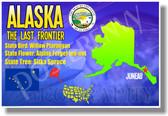 Alaska Geography - NEW U.S. State Social Studies Travel PosterEnvy Poster (tr520)